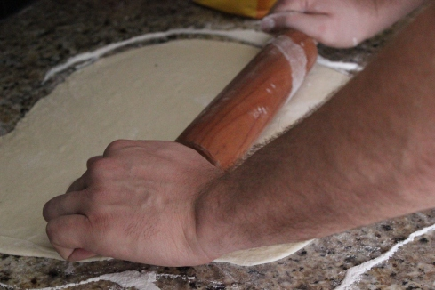 My dough-rollin' hubby!