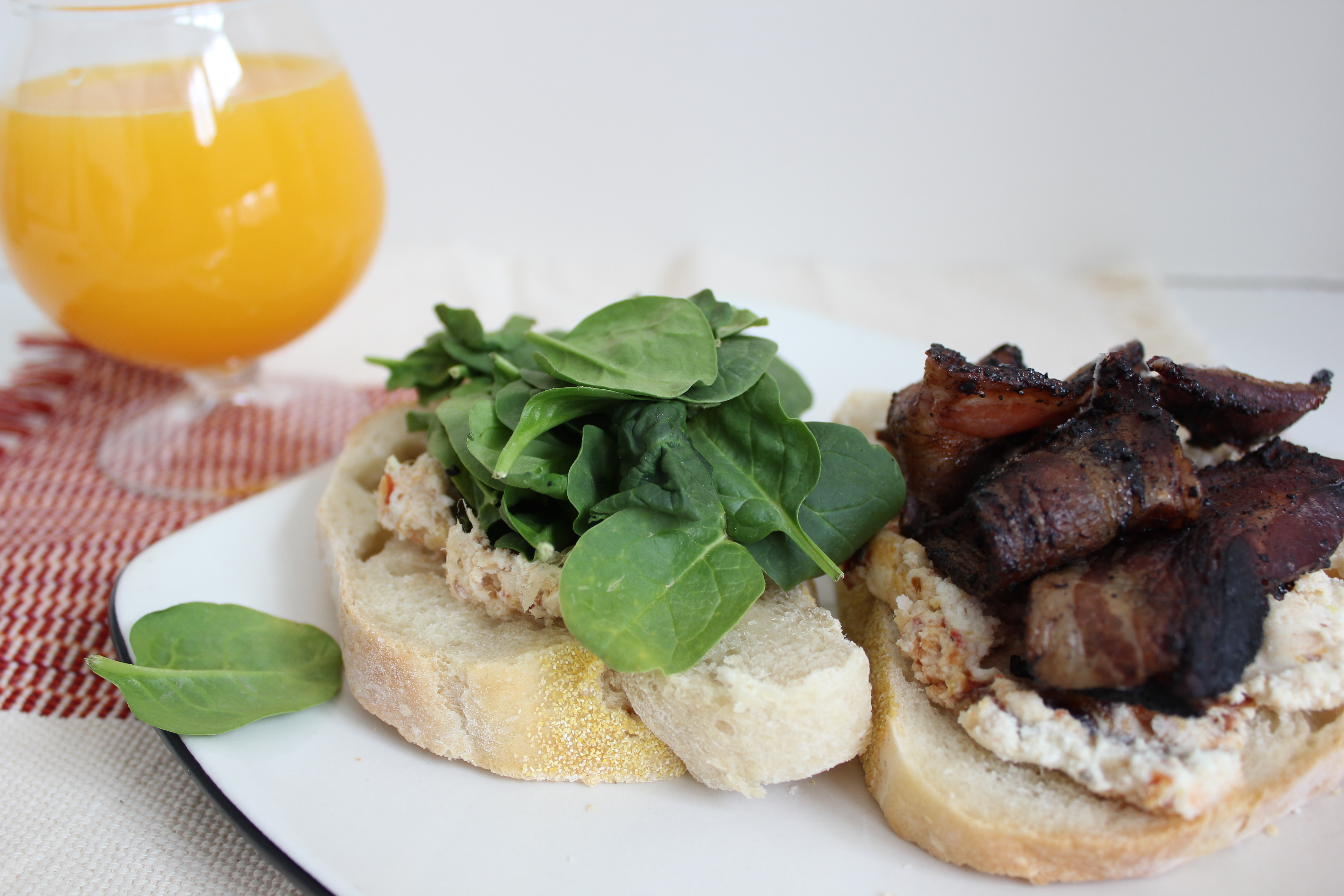 Coffee Bacon Sandwiches with Date Goat Cheese spread – Purple House ...
