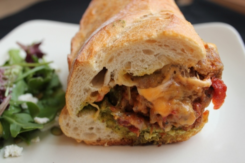 Meatball subs | www.purplehousecafe.com
